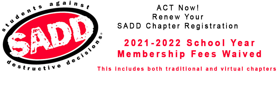 SADD Chapter Renewal 202122