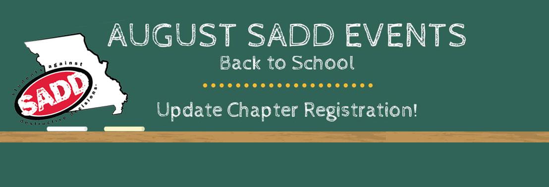 SADD Update Chapter Registration