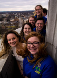 Youth Ambassadors on the dome