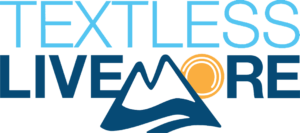Text Less Live More Logo