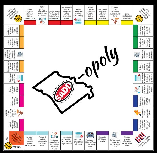 SADD-Opoly Game Board Image